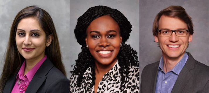 Chaudhary, Ozieh, and Winn Named Recipients of 2018 Mentored Career Development Awards