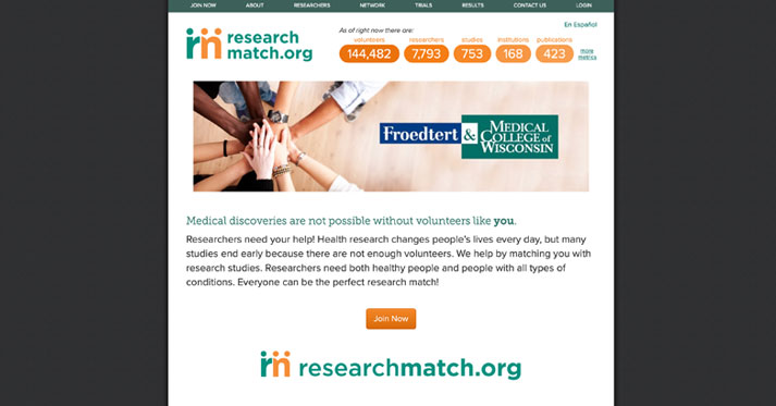 ResearchMatch Brings Volunteers Trying to Find Clinical Trials Together with Researchers